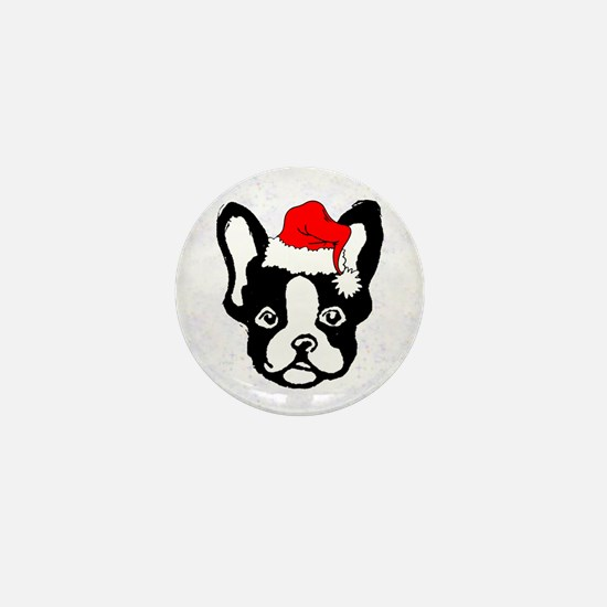 French Bulldog Santa1 Mini Button