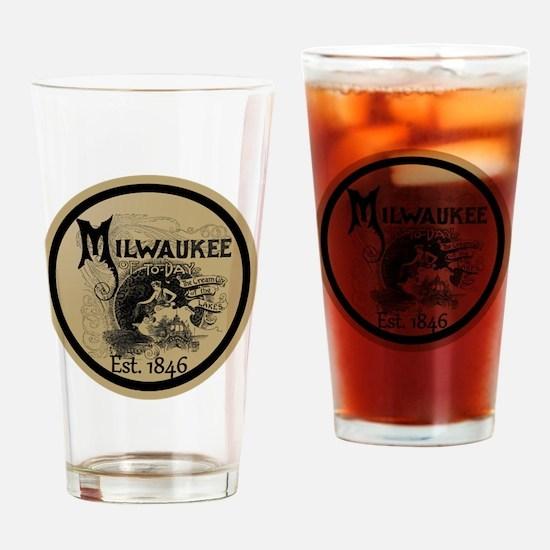 Cool Milwaukee Drinking Glass