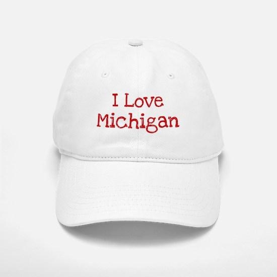 I love Michigan Baseball Baseball Cap