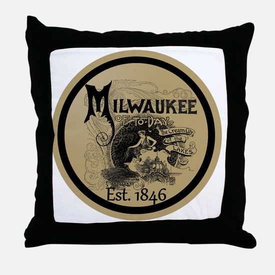 Cute Milwaukee Throw Pillow