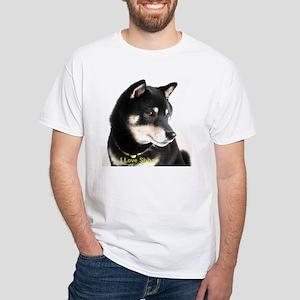 White T-Shirt - I Love Shiba 1