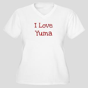 I love Yuma Women's Plus Size V-Neck T-Shirt