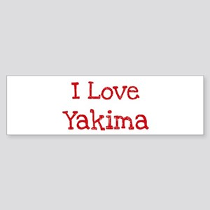 I love Yakima Bumper Sticker