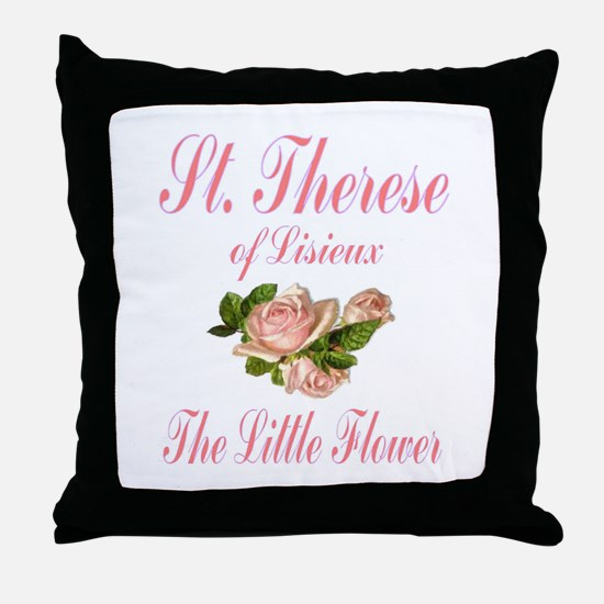 St.Therese - The Little Flower Throw Pillow