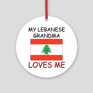 My Lebanese Grandma Loves Me Ornament (Round)