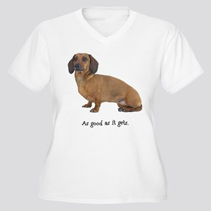 Good Dachshund Women's Plus Size V-Neck T-Shirt