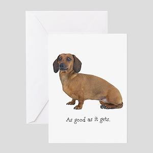 Good Dachshund Greeting Card