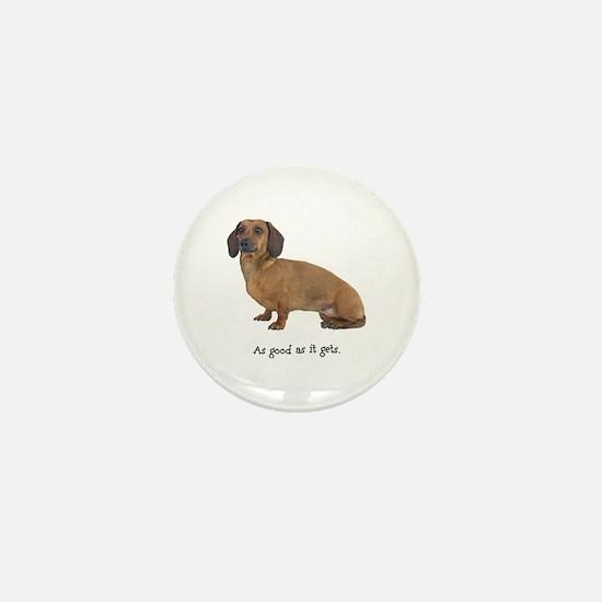 Good Dachshund Mini Button