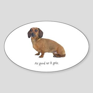 Good Dachshund Oval Sticker