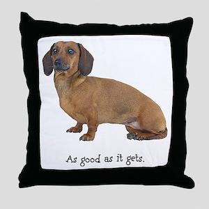 Good Dachshund Throw Pillow
