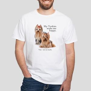My Yorkies White T-Shirt