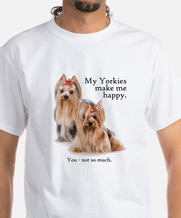 My Yorkies White T-Shirt
