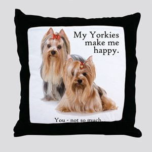 My Yorkies Throw Pillow