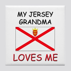 My Jersey Grandma Loves Me Tile Coaster