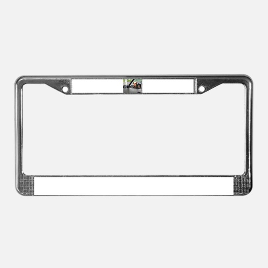 Cute Airedale terrier License Plate Frame