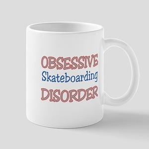 Obsessive Skate Boarding Disorde 11 oz Ceramic Mug