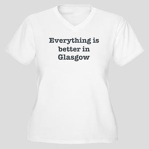 Better in Glasgow Women's Plus Size V-Neck T-Shirt