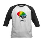 Rainbow Peace Love Kids Baseball Jersey