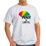 Rainbow Peace Love Light T-Shirt