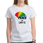 Rainbow Peace Love Women's T-Shirt