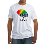 Rainbow Peace Love Fitted T-Shirt