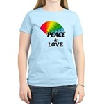 Rainbow Peace Love Women's Light T-Shirt