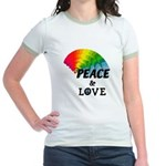Rainbow Peace Love Jr. Ringer T-Shirt