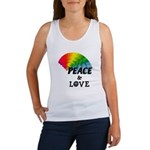 Rainbow Peace Love Women's Tank Top