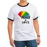 Rainbow Peace Love Ringer T