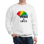 Rainbow Peace Love Sweatshirt