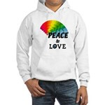 Rainbow Peace Love Hooded Sweatshirt
