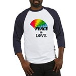 Rainbow Peace Love Baseball Jersey