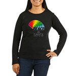 Rainbow Peace Lov Women's Long Sleeve Dark T-Shirt