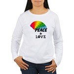 Rainbow Peace Love Women's Long Sleeve T-Shirt