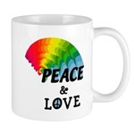 Rainbow Peace Love Mug