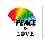 Rainbow Peace Love Small Poster