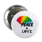 "Rainbow Peace Love 2.25"" Button"