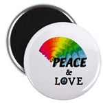 "Rainbow Peace Love 2.25"" Magnet (10 pack)"
