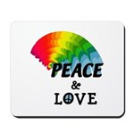 Rainbow Peace Love Mousepad