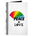 Rainbow Peace Love Journal