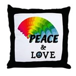 Rainbow Peace Love Throw Pillow