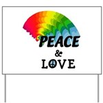 Rainbow Peace Love Yard Sign