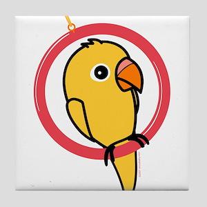 Yellow Parakeet Tile Coaster