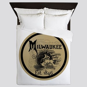 milwaukee slogan - cream city Queen Duvet