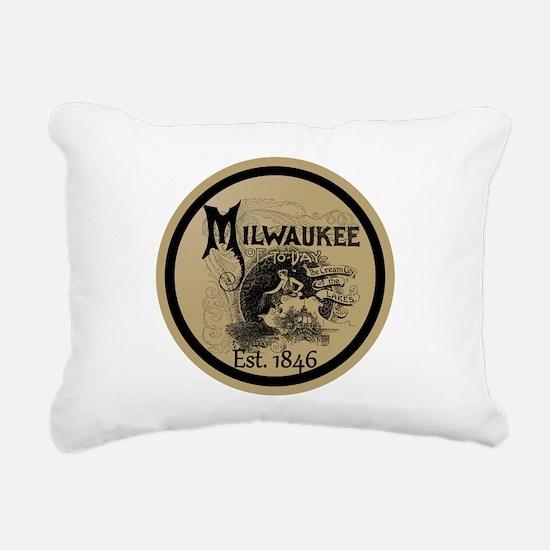 milwaukee slogan - cream Rectangular Canvas Pillow