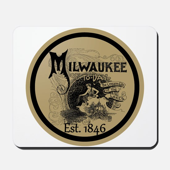 milwaukee slogan - cream city Mousepad