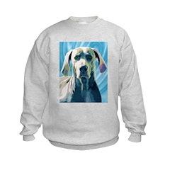 Whimsical Weimaraner Sweatshirt