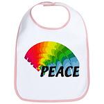 Rainbow Peace Bib