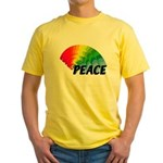 Rainbow Peace Yellow T-Shirt