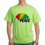 Rainbow Peace Green T-Shirt